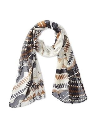 43% OFF Ivanka Trump Women's Graphic Zig Zag Oblong Scarf, Neutral