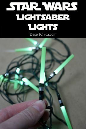 Celebrate Star Wars The Force Awakens with your own Star Wars Lightsaber Christmas light set, perfect for your Christmas tree, Star Wars themed bedroom or Star Wars birthday parties!