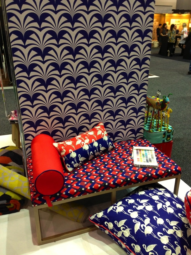 The colourful Emily Ziz display included on-trend bright geometrics, fauna and South-American influences at DesignEX13, Melbourne. More on the RSD Blog.