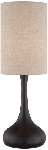 Bronze Droplet Table Lamp With Cylinder Shade Universal Lighting and Decor http://www.amazon.com/dp/B00GTQ4LH2/ref=cm_sw_r_pi_dp_iDS6tb1564DPZ