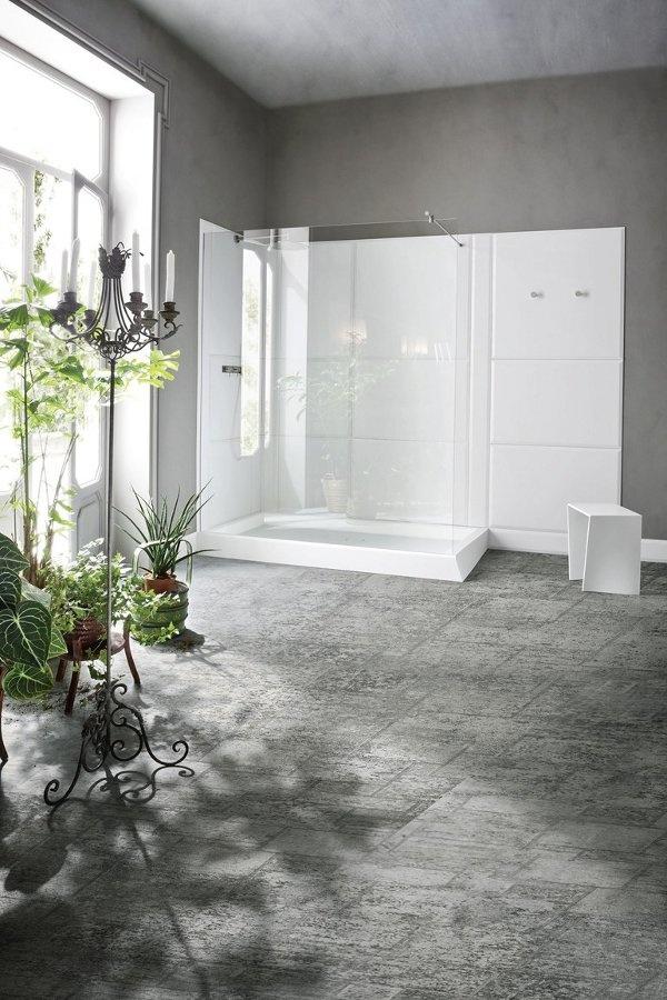 Rectangular Corian® #shower tray WARP by Rexa Design | #design Carlo Dal Bianco #minimal #white