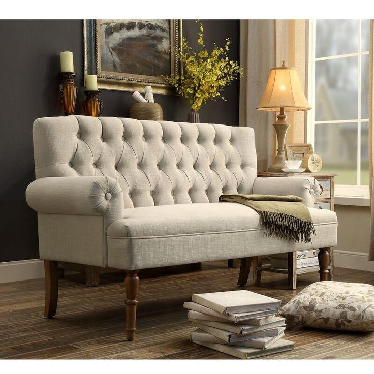 Andover Mills Bjorn Chesterfield Settee Reviews Wayfair Furniture Love Seat Wayfair Furniture