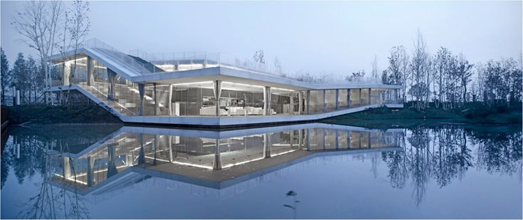TAO: riverside clubhouse  forced interaction with nature
