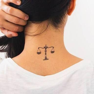 Resultado de imagen para simple scales of justice tattoo