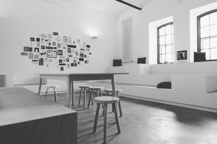 """The core of our office: the """"social arena""""   Design by Büro Henri Fischer Collective   Photo by Jasmin Marla Dichant"""