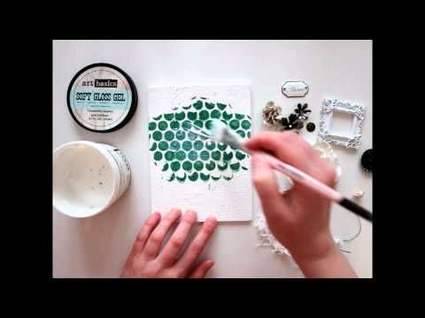 Finnabair: Mixed Media Home Sprinkle dry mica powder on artwork then spray with water and watch the the magic happen. Beautiful! (4:51)