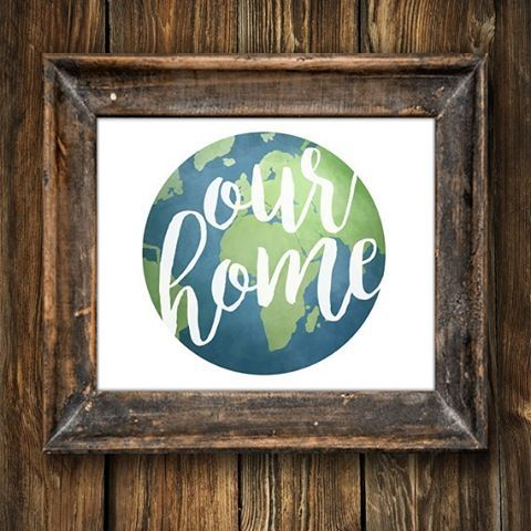 This printable is a great reminder that we share this lovely planet we call home!  We need to all be kind to our home and to those we share it with  . . . . . #alittleleafy #ourhome #home #shopsmall #decor #interior #homesweethome #environment #planet #eco #ecofriendly #plants #solarsystem #cleanearth #planets #universe #savingplanetearth #sustainable #planetearth #travelandleisure #mothernature #travelgram #happyearthday #earthday #environmentday #nature #naturelovers #ourearth