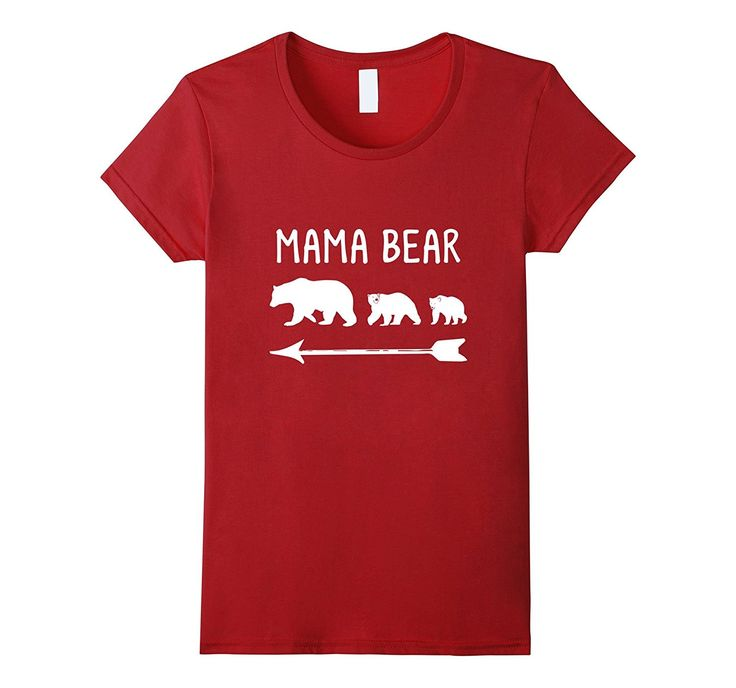 Women's Mama Bear 2 Cubs T-Shirt