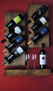 Custom Floating Wine Rack