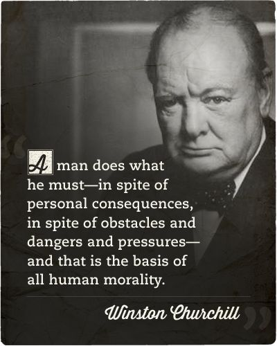 Seems like Churchill did some thinking while smoking them stogies.