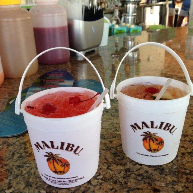 Malibu 32oz Buckets at the Hilton Orlando Hotel, Florida, USA