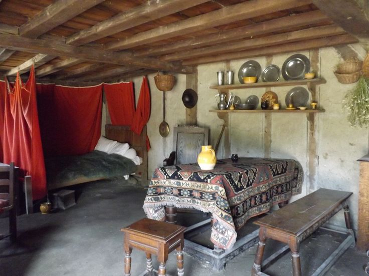 inside one of the english colony houses plymouth
