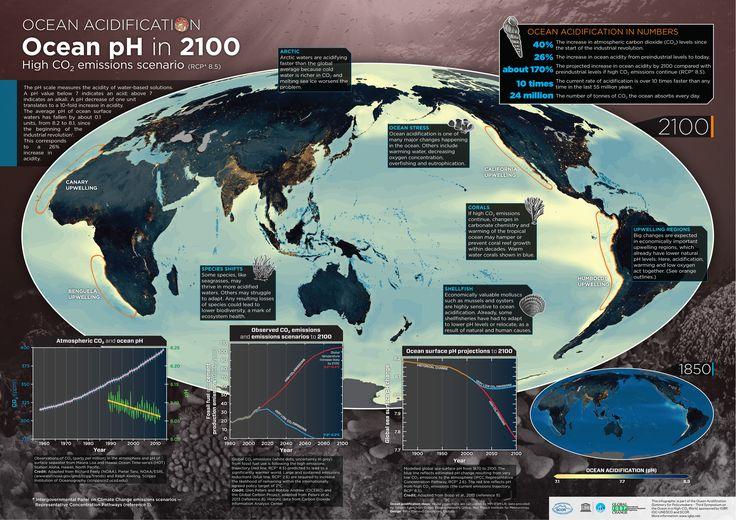 Ocean acidification: pH in 2100