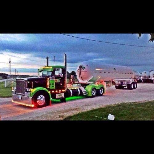"truckingworldwide: ""peterbilt custom with dump trailer """