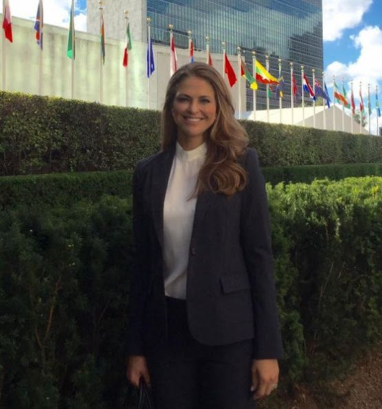 Princess Madeleine of Sweden attended a seminar in New York, USA