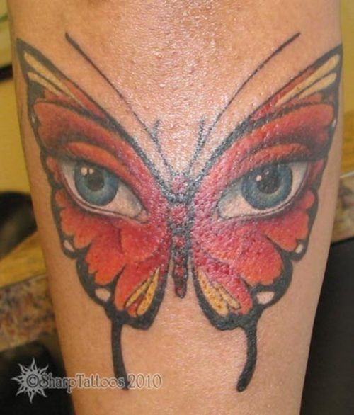 posts large eyed butterfly tattoo on back large eyed butterfly tattoo ...