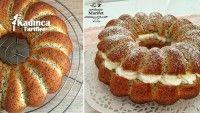 Arası Kremalı Haşhaşlı Kek Tarifi