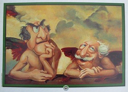 Statler and Waldorf Cherubs