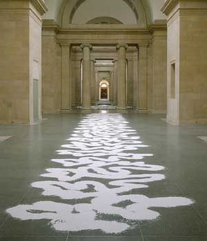 Richard Long (born 2 June 1945) Bristol, England .