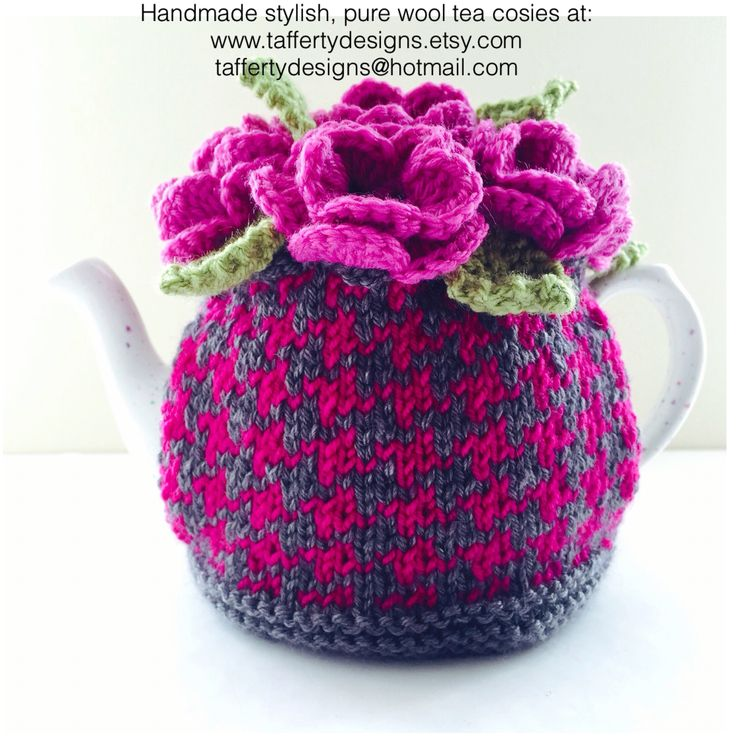The 'Vesper Houndstooth' tea cosy, named after Bond's love interest in Casino Royale. She had beauty, mystery & passion, just like this cosy. http://www.taffertydesigns.etsy.com