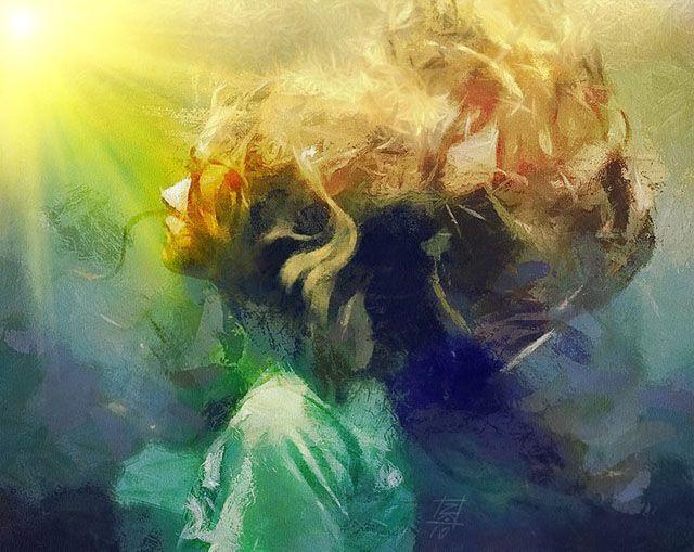 Tsviatko Kinchev  #illustration: Paintings Art, Artists, Modern Art, Amazing Art, Warm Colors, Art Paintings, Modern Paintings, Tzviatko Kinchev, Sweet Dreams