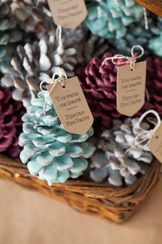 In this detailed step by step tutorial Something Turquoise shares how to make pinecone fire starters that would make terrific winter wedding favors or great gifts!