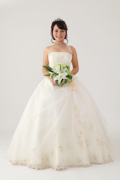 ウェディングドレス HJA-3415F ウェディングドレスのレンタルなら大阪ピノエローザへ