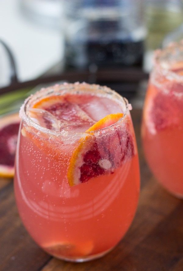 Sparkling Grapefruit Ginger Orange Cocktail