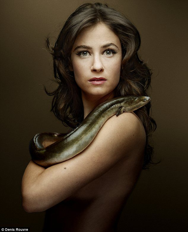 French actress Melanie Bernier - one of many stars who posed for the Fishlove campaign, against destructive fishing practices.