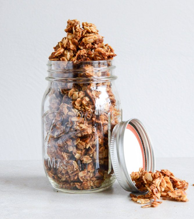this Coconut Butter Granola is one of my favorite healthy snacks I howsweeteats.com