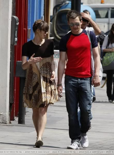 Keira Knightley & Rupert Friend in London today - Oh No They Didn't!