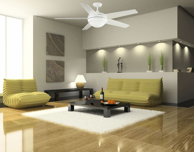 White Ceiling Fan With Lights For Modern Room