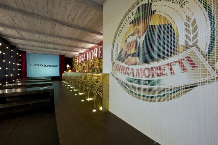 Moretti temporary Bar.  #Digital #Mosaic. #Mosaico.