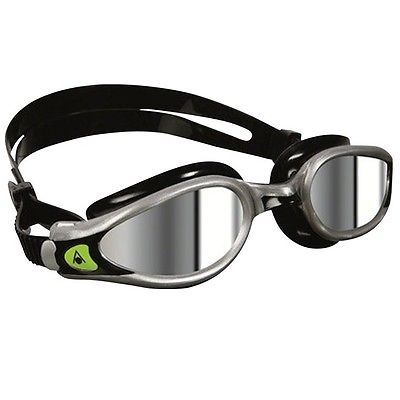 Goggles 74051: Aqua Sphere Kaiman Exo Swim Swimming Goggles Silver/Black With Mirror Lens BUY IT NOW ONLY: $32.2