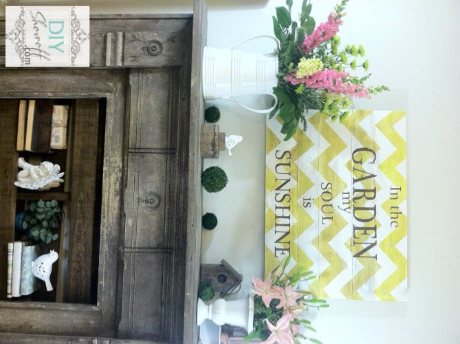 chevron sign - use different font: Summer Gardens, Summer Mantels, Gardens Signs, Summer Pics, Mantels Style, Home Improvement, Summer Mantles, Gardens Mantels, Chevron Signs