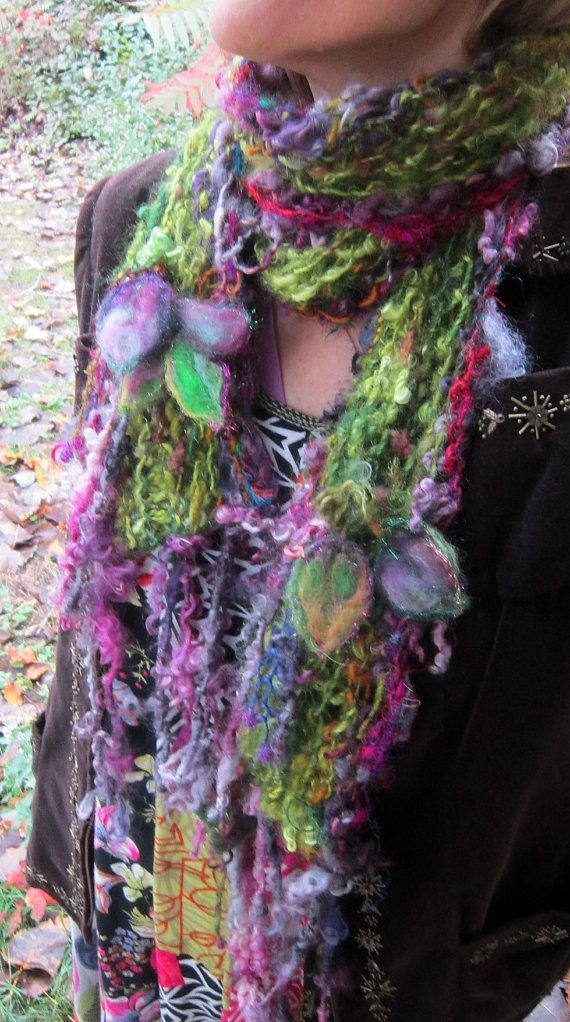 knit scarf rustic soft handknit scarf  from the by beautifulplace, $72.00