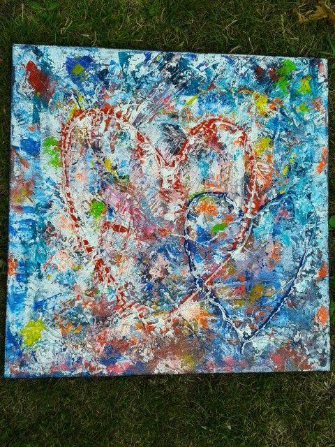 Acrylmaleri Hjerter