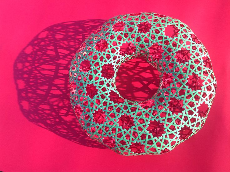 Islamic geometry Woven torus