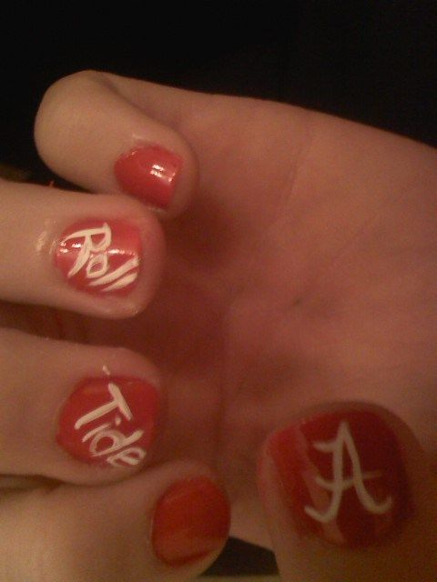 Alabama Football Nails   Unique Designs And Finds