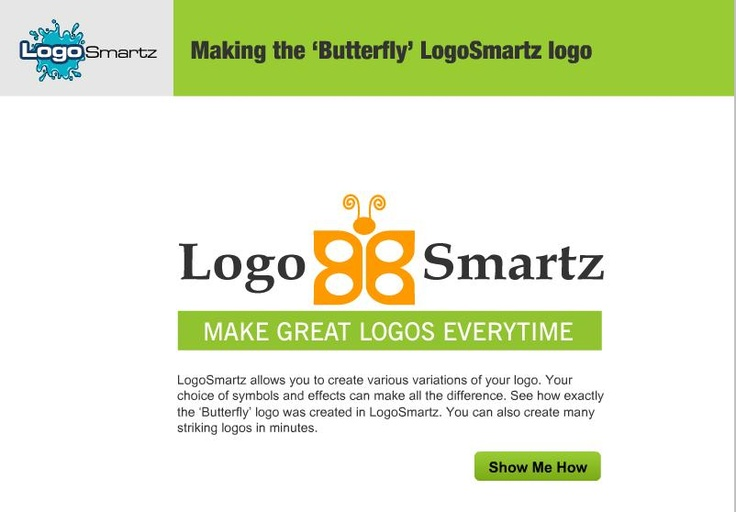Lean how to make a butterfly log using Logosmartz Logo making software. For the complete demo video, visit to - http://www.logosmartz.com/french/seevariation.htm