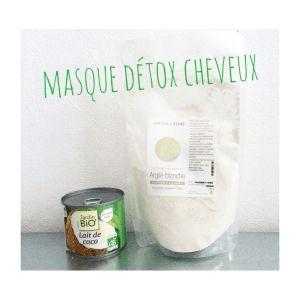 masque argile verte ou blanche et coco pour retirer les silicones