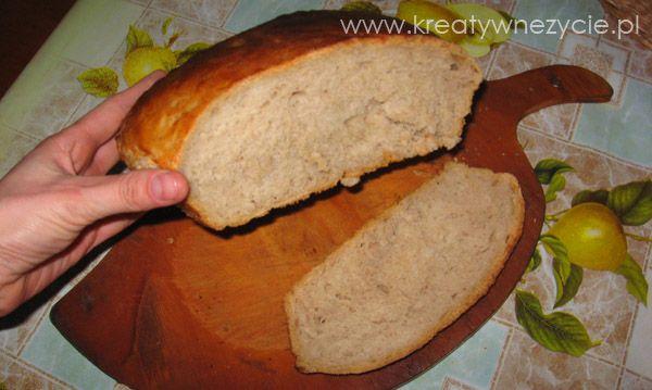 Jak upiec chlebek w domu, przepis krok po kroku, zdjęcia, filmy. Zapraszam na mój blog www.KreatywneZycie.pl