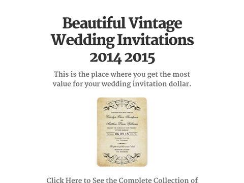 17 Best Images About Vintage Wedding Invitations On Pinterest