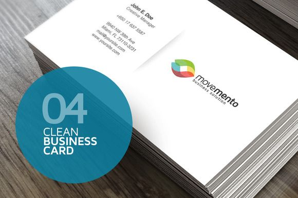 20% Off - 4 Clean Business Cards by Easybrandz on @creativemarket