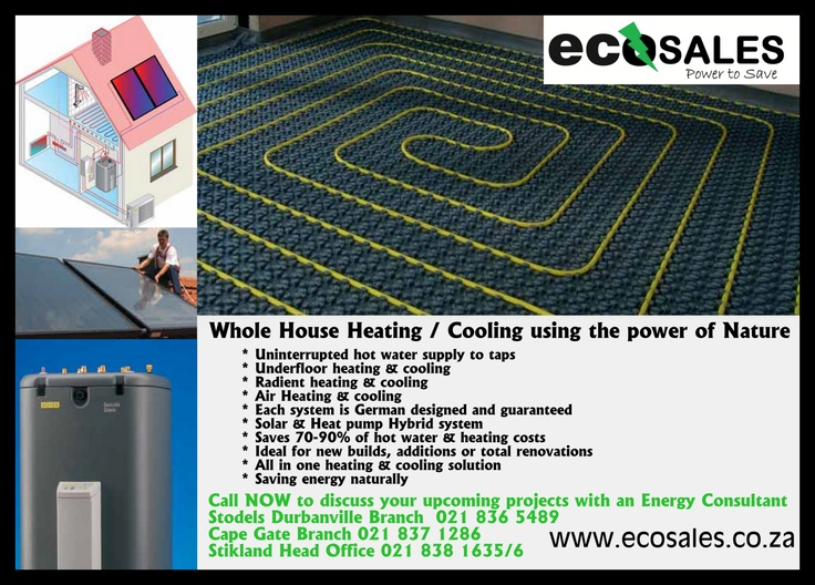 Whole house heating & cooling | Renewable Energies | Pinterest