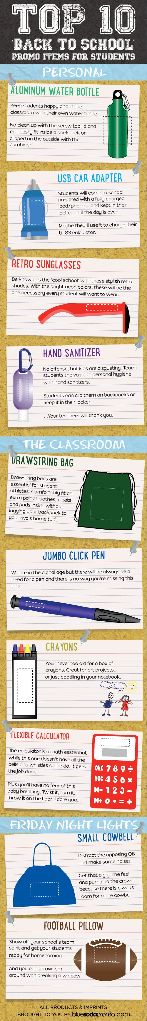 Great 'Back to School' #promoproducts ideas for your business to give to students