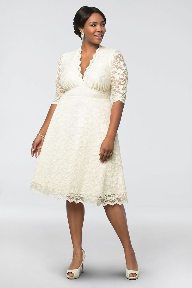 34 Short Wedding Dresses For Your Ceremony Second Look And Beyond Plus Size Short Dresses Short Wedding Dress Informal Wedding Dresses [ 1104 x 736 Pixel ]