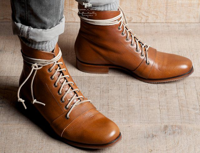 cognac ankle booksFootwear, Men High, Leather Boots, Hard Grafting, Shoes Men, High Boots, Boots Style, Tans Leather, Heritage High