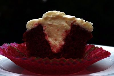 Our Italian Kitchen: Stuffed Red Velvet Cupcakes with Cream Cheese Frosting