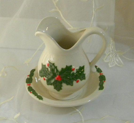 Vintage 1980s Christmas Holiday Decor Ceramic by RitasGarden, $12.95